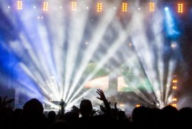 people watching concert photography