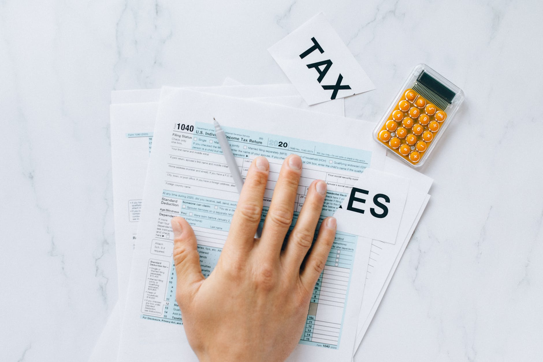 person filing tax documents